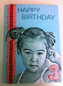 DIY Coloring Book Birthday Card