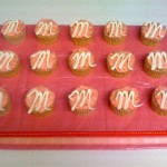 Easy Monogrammed Birthday cupcake decorating idea!