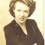 Grandma Shirley, striking a pose after graduating high school, circa 1944.