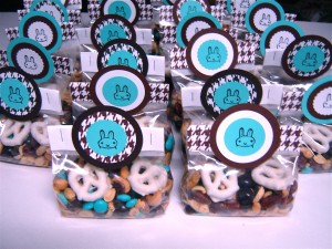 This bunny-themed take home treat was a big hit--making a good trail mix is a bit more complicated than I originally thought!