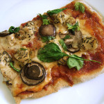 Use your leftover Herb Chicken to make this awesomely delicious pizza!