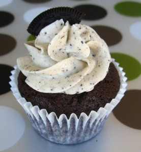 "The girls from ""Our Sweet Obsession"" perfected this delish cookies & cream cupcake recipe!"