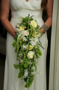 The bouquet was the perfect accessory to my dress and it helped to elevate the formality of my simple dress!