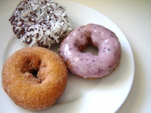 Being a vegan can't be so hard when you can easily pick up some delishious doughnuts!