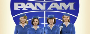 "Two brunettes, two blonds, ready to take off in the new ABC show ""Pan Am!"""