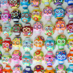 The vibrant colors and striking imagry of these sugar skulls has lured me to this Mexican holiday.