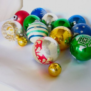 Bejewel your tree with vintage glass ornaments, not too much more than buyng new!