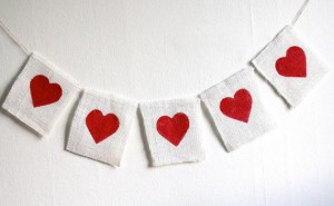 A heart garland can be as simple or intiricate as you and the kiddies desire!