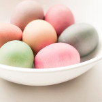 These wooden eggs evoke the same sweet simplicity of traditional dyed eggs.