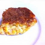 The secret to success in this corn casserole recipe is using Jiffy brand cornbread mix.