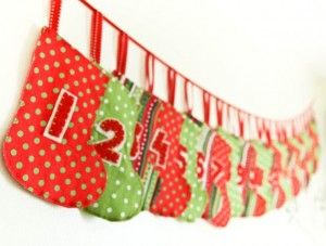 Interesting Advent Calendar Ideas: mini stocking advent calendar