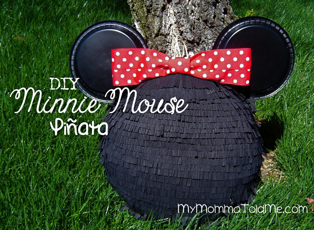 DIY Minnie Mouse Birthday Pinata // My Momma Told Me