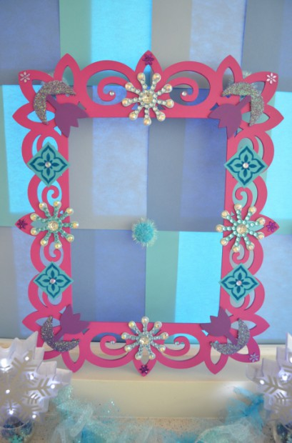 Party Photo Frame Prop Frozen Party Photo Booth Frame