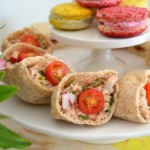 Tuna Radish and Chive mini Pitas tea sandwiches by MyMommaToldMe.com