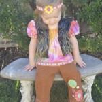 Toddler girl halloween costume Hippie Flower Girl 60's MyMommaToldMe.com