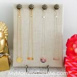 Jewelry Organizer DIY Project Tutorial Jewelry holder by MyMommaToldMe.com