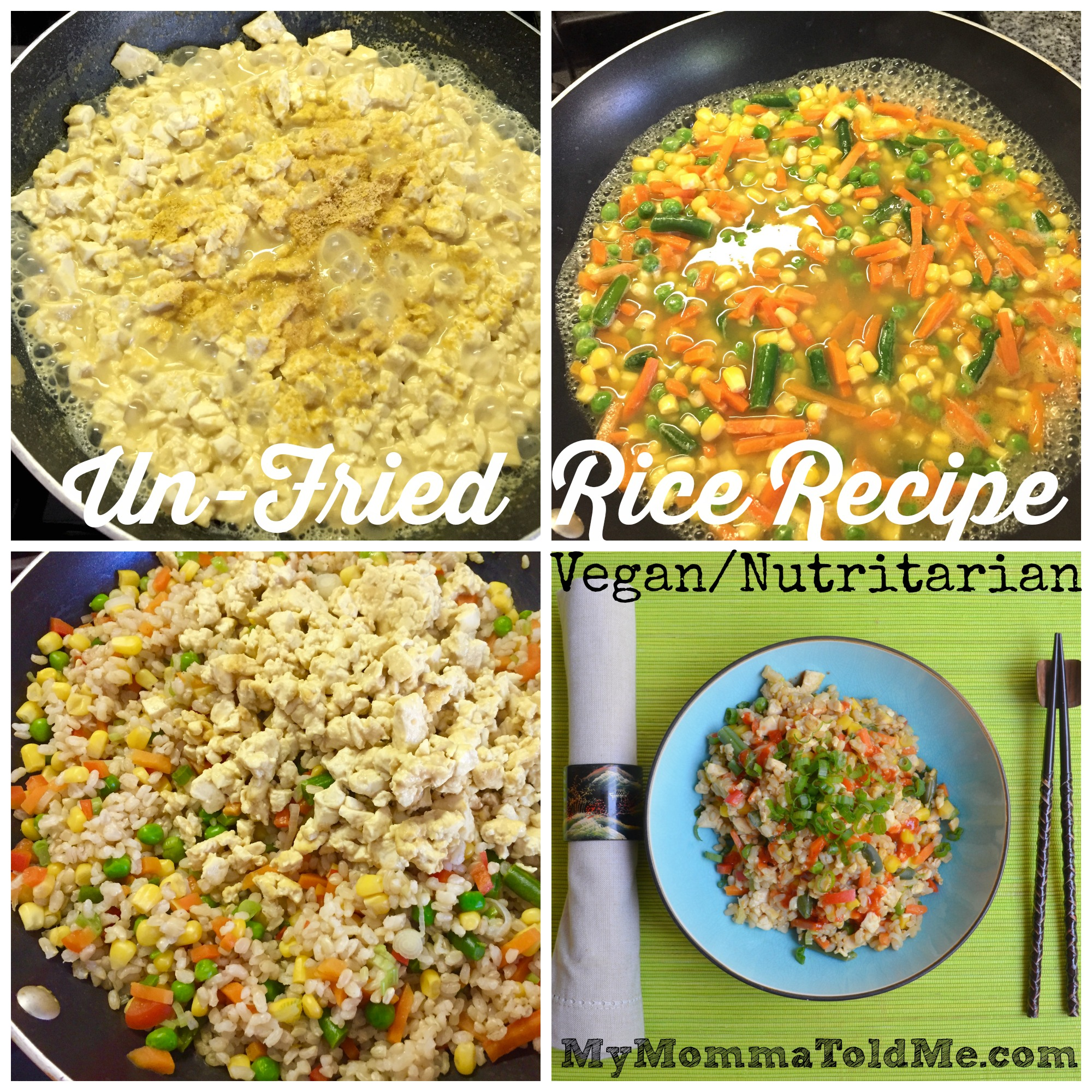 Eat to Live Program Un Fried Rice Recipe No Oil Dr Fuhrman Vegan Nutritarian