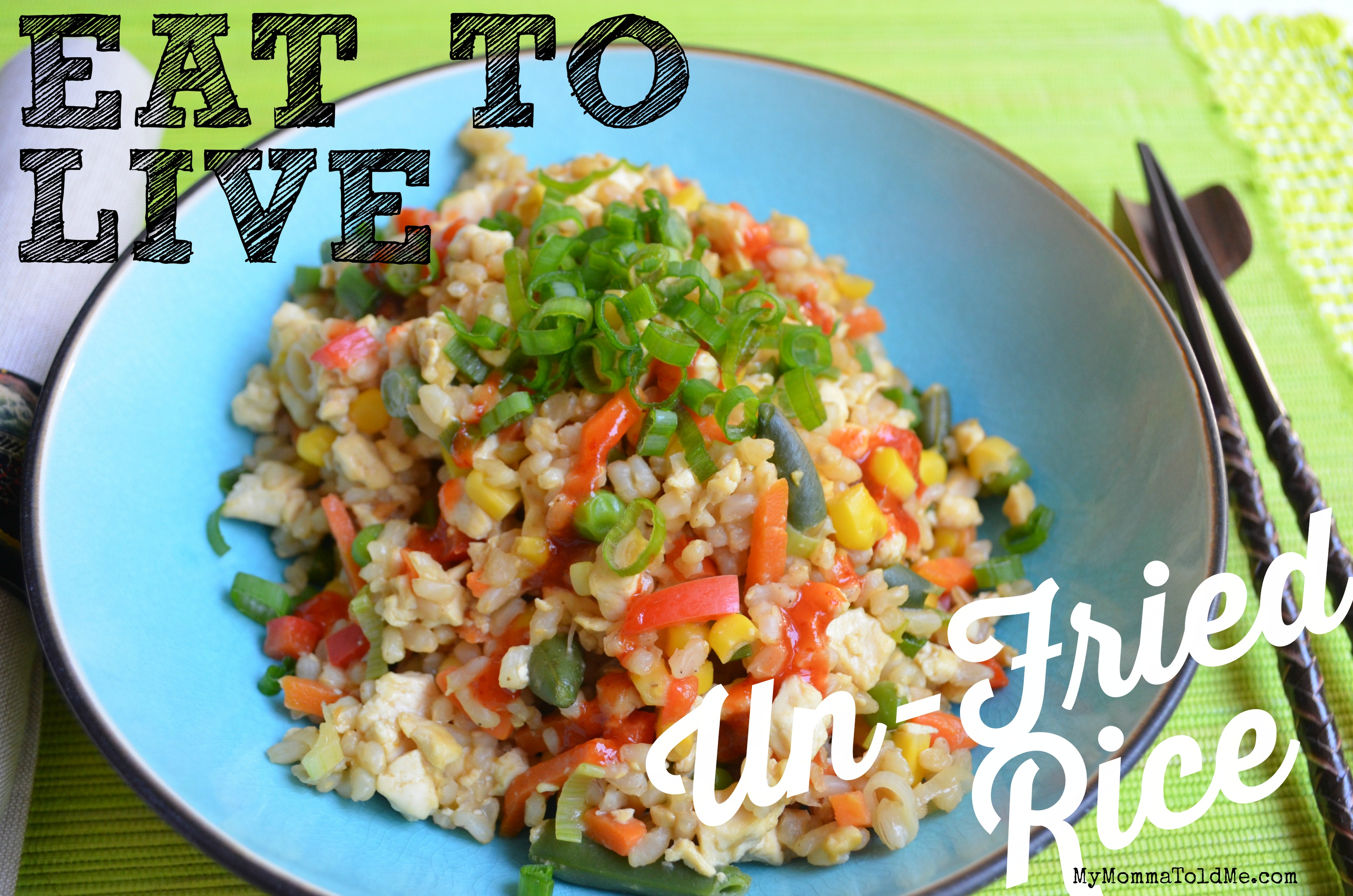 Eat to Live Program Un-Fried Rice Recipe