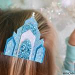Elsa Frozen ice Castle Hair clip Tutorial free Template Frozen christmas craft