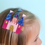 Felt castle hair clip tutorial anna frozen arandelle castle clip
