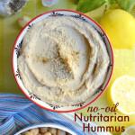 No oil hummus recipe nutritarian recipe Dr Fuhrman Six week eat to live plan diet program