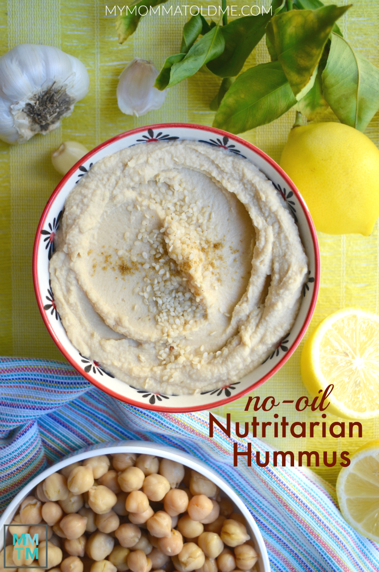 Can you eat hummus on eat to live diet criticism