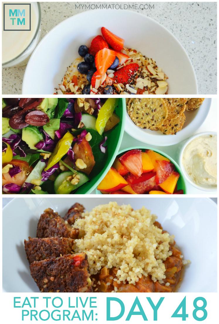 Dr Fuhrman Eat to Live Nutritarian 6 week program diet plan daily menu mymommatoldme.com