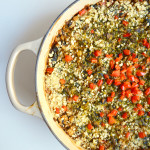 Dr Fuhrman Eat to Live Program Recipe Cheesy Red Pepper Kale Casserole No Oil Vegan Recipe