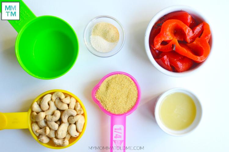Cashew Cheese Sauce Ingredients Dr Fuhrman Eat to Live program Recipe
