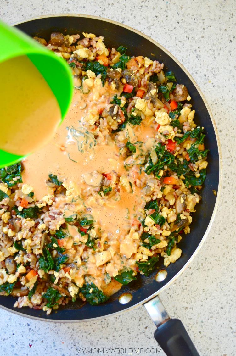 Dr Fuhrman Eat to Live Recipe Nutritarian Recipe Cheesy Kale Casserole no oil low salt recipe