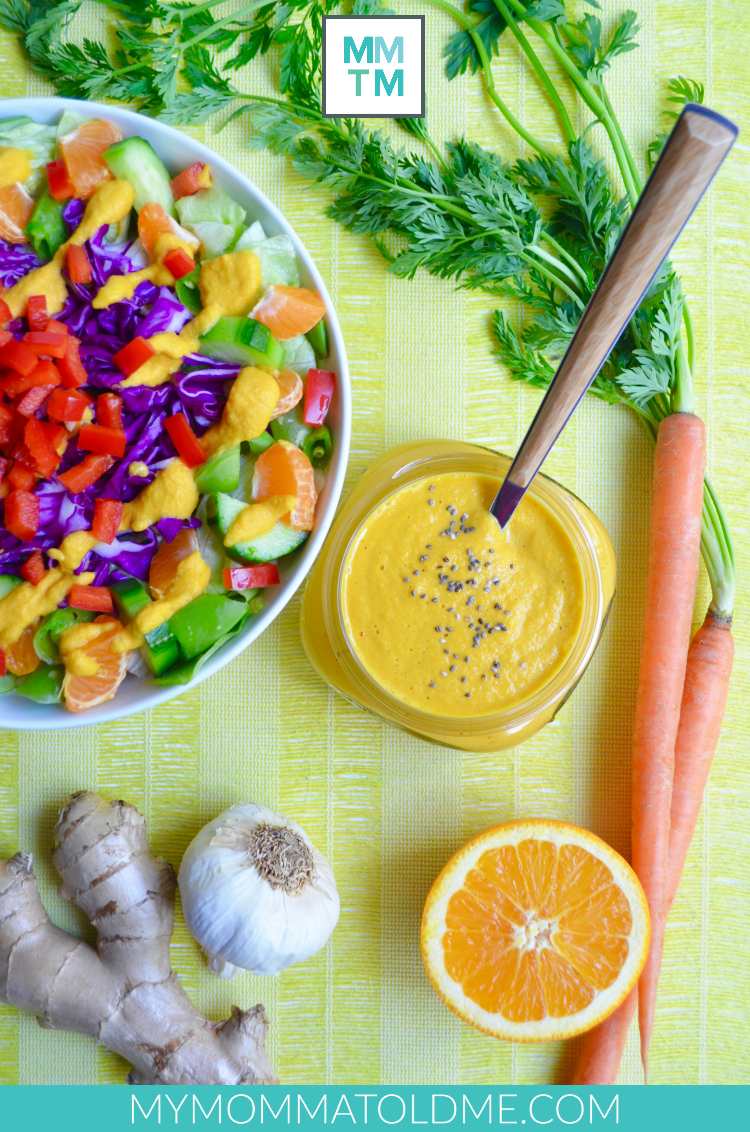 no oil salad dressing recipe no oil no added salt Dr Fuhrman Eat to Live nutritarian 6 week plan Carrot Ginger Orange dressing