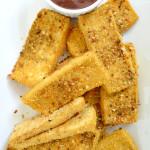 crispy oven baked tofu nutritarian vegan gluten free Dr Fuhrman eat to live 6 week program