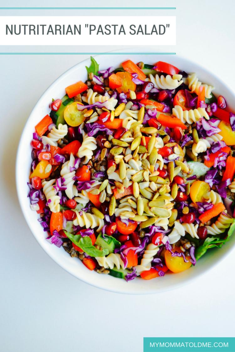 nutritarian pasta salad recipe best pastas on eat to live 6 week program dr fuhrman PBS the end of dieting heart diesease